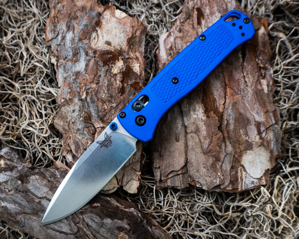 Benchmade Bugout in Blue Side Shot
