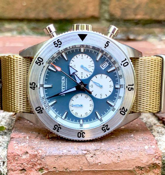 Dryden Watch Co - DCD-1 - Blue Face - Khacki Straps