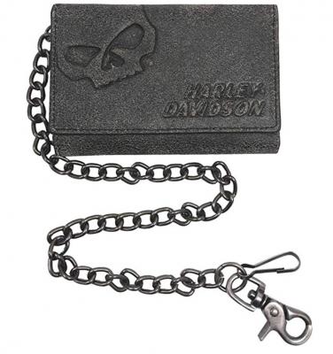 Harley Davidson Biker Leather Chain Wallet