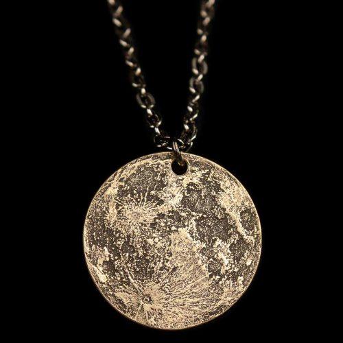 Harvest Moon Brass Necklace