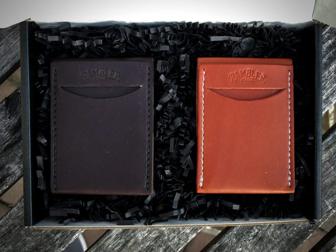 The Scout Wallet by Rambler Made, Chestnut and Dark Brown in Box