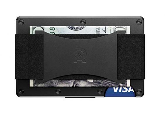 Ridge Wallet - Strap - Black - Front
