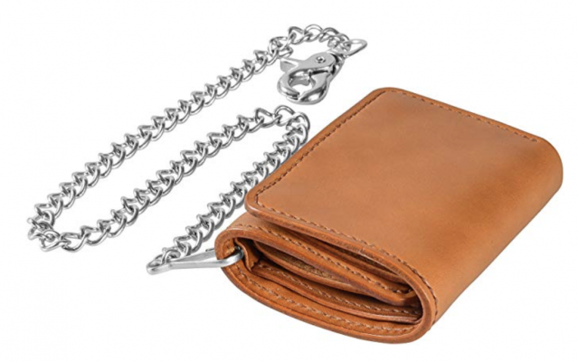 Tom Barington Chain Wallet Leather
