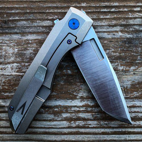 Vero Engineering Impulse knife open on table