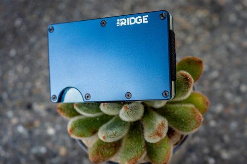 Blue Navy Ridge Wallet Aluminum on Cactus
